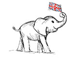 Elephant with Flag